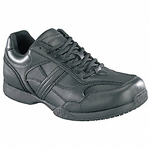 Work Shoes,Pln,Mens,9W,Black,PR