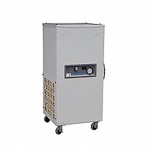 "UVGI Negative Air Machine, 3/4, 6 Amps, Length 25"", Height 39"", Width 24"""