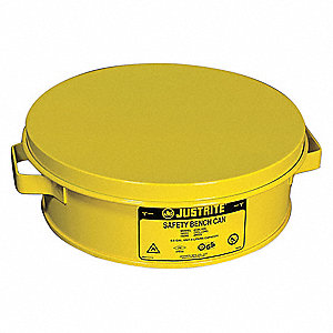 "Steel Bench Can, 2 qt. Capacity, 4-1/2"" Dasher Plate Dia."