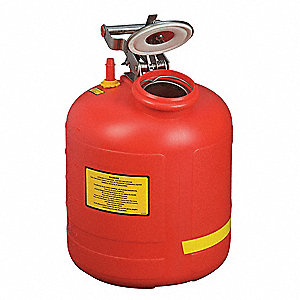 Disposal Can,5 Gal.,Red,Polyethylene