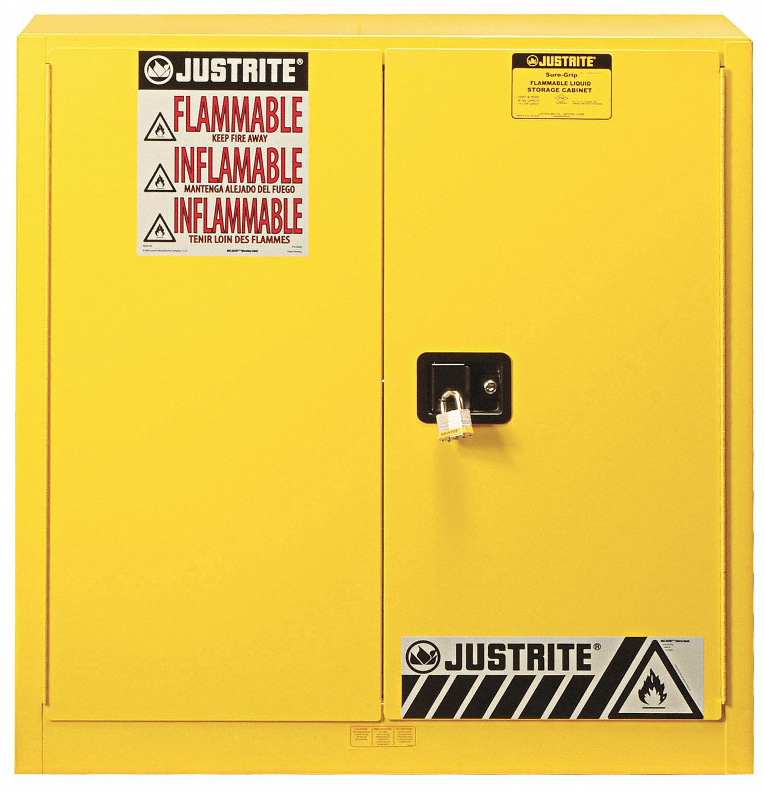 Justrite 30 Gal Flammable Cabinet Manual Safety Cabinet