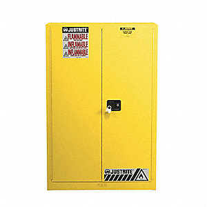 Flammable Cabinet,60 Gal.,Yellow
