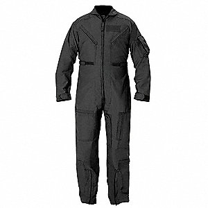 Coverall,Chest 35 to 36In.,Black
