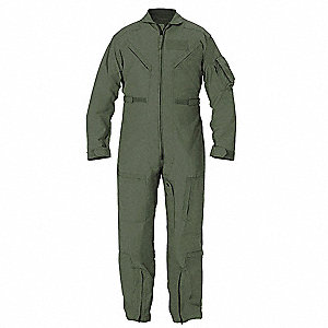 Coverall,Chest 47 to 48In.,Freedom Green