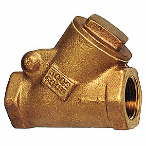 "2"" Swing Y Check Valve, Bronze, FNPT Connection Type"
