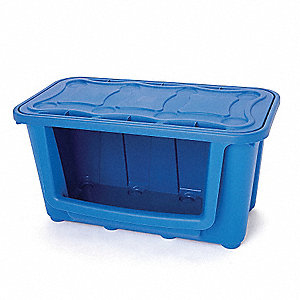Storage Tote,Recycling Blue,15-5/8 In. L