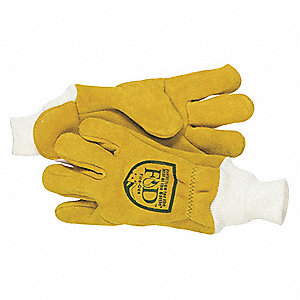 Firefighters Gloves,L,Elkhide Lthr,PR