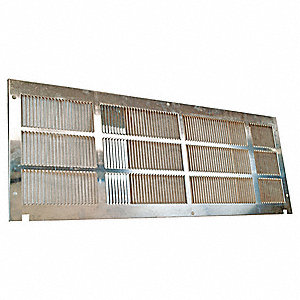 "Exterior Grille, 16-1/16"" Width, 42"" Height,1"" Depth, For Use With Any Frigidaire PTAC"