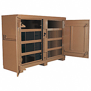 "Tan Jobsite Storage Cabinet, Width: 72"", Depth: 24"", Height: 51"", Storage Capacity: 48 cu. ft."