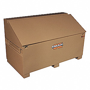 "Tan Jobsite Box, Width: 60"", Depth: 30"", Height: 37"", Storage Capacity: 31 cu. ft."