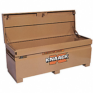 "Tan Jobsite Chest, Width: 72"", Depth: 24"", Height: 23"", Storage Capacity: 24.5 cu. ft."