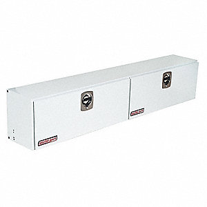 Steel Body, Aluminum Cover Topside Truck Box, White, Double, 15.2 cu. ft.