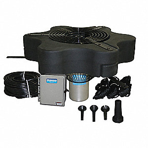 3 HP Pond Decorative Fountain System, 240V Voltage, 13.4 Full Load Amps, 2894 Full Load Watts