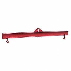"Adjustable Lifting Beam, 2000 lb., Max. Spread 69-3/8"", Min. Spread 45-3/8"", Headroom 14-1/8"""