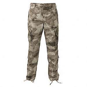 Mens Tactical Pant,A-TACS,Size M Short