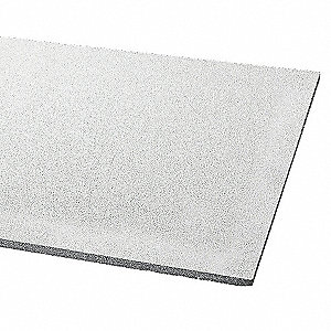 "Acoustical Ceiling Tile, 24"" Width, 48"" Length, 3/4"" Thickness, Mineral Fiber"