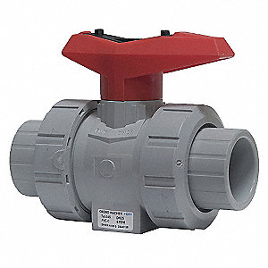 CPVC Inline, True Union Ball Valve, Socket x Socket