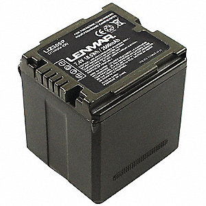 Panasonic Camcorder Battery, Lithium-ion, Voltage 7.4, 2500mAh, 1 EA