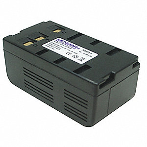 General Electric Camcorder Battery, Nickel-Metal Hydride, Voltage 6, 4100mAh, 1 EA