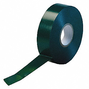 "Green Flame Retardant Vinyl Electrical Tape, 3/4"" Width, 66 ft. Length, 7 mil Thickness"