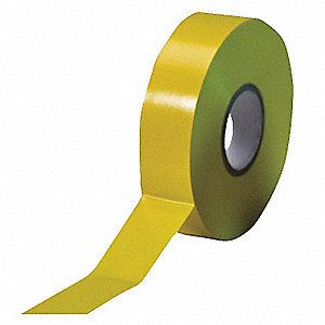 "Yellow Flame Retardant Vinyl Electrical Tape, 3/4"" Width, 66 ft. Length, 7 mil Thickness"