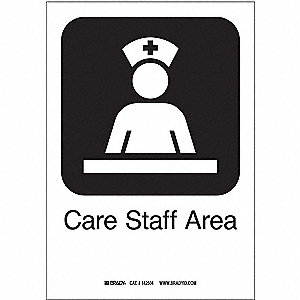 Care Staff Area, Text and Symbol, Plastic