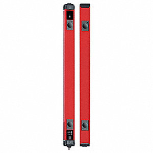 Red Light Curtain, 26.3 ft. Max. Sensing Distance, 24VDC Input Voltage