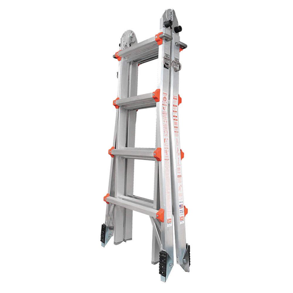 "Little Giant 10102AS Multipurpose Ladder, 4 ft. 7"", IA, Aluminum at Sears.com"