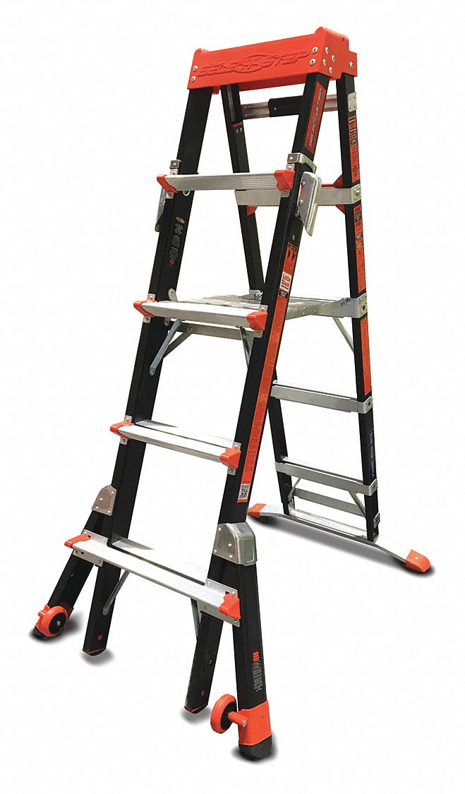 Little Giant Multipurpose Ladder 8 Ft Iaa Fiberglass
