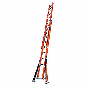 Extension Ladder, Fiberglass, IA ANSI Type, 24 ft. Industry Ladder Size