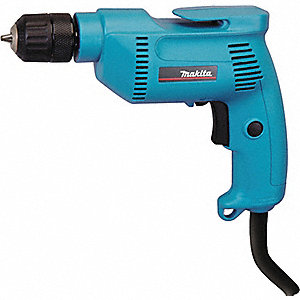 "3/8"" Electric Drill, 4.9 Amps, Pistol Grip Handle Style, 0 to 2500 No Load RPM, Voltage 120"