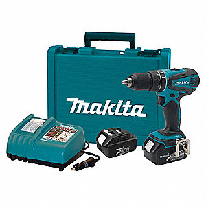 "1/2"" Cordless Hammer Drill Kit, Voltage 18.0 Li-Ion, Battery Included"