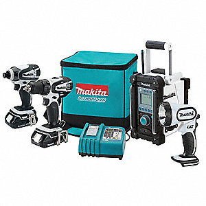 Cordless Combination Kit, Voltage 18.0 Li-Ion, Number of Tools 4