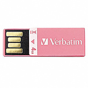 Clip-it USB Flash Drive,4 GB,Pink