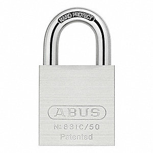 "Padlock with Interchangeable Core, Hardened Steel, 1"" Shackle Height"