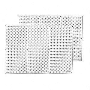 White 20 ga. Steel Pegboard, 21 sq. ft. Storage