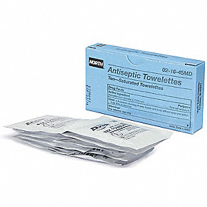 "Antiseptic Towelettes, 1"" x 2-1/2"" Foil Pack"