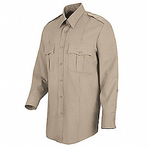 Deputy Deluxe Shirt,Tan,Neck 15 In.