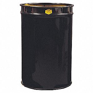 JUSTRITE 55 gal. Black, Metal Open-Head Drum