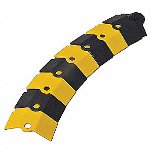 Cable Protector, Black/Yellow, Connection Style: Snap, Load Capacity: 2000 lb.