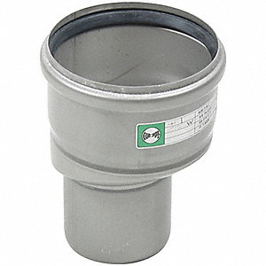 "Eccentric Reducer, 316 Stainless Steel, 2"" x 3"" Pipe Size"