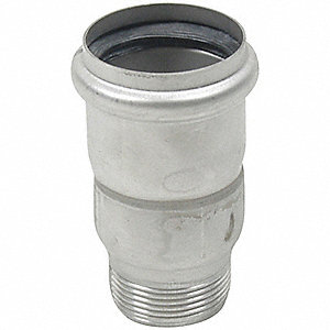 "Adapter, 316 Stainless Steel, 1-1/2"" x 2"" Pipe Size"