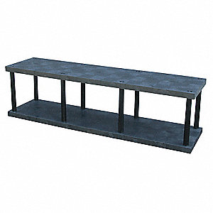 "Bulk Storage Rack, 27"" Height, 96"" Width, 1770 lb. Load Capacity, Number of Shelves 2"