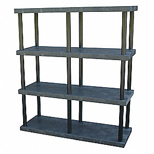 "Bulk Storage Rack, 75"" Height, 66"" Width, 2420 lb. Load Capacity, Number of Shelves 4"