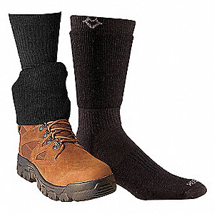 "For 6"" Boots 35% Merino Wool, 30% Recycled Polyester, 21% Nylon, 12% Acrylic, 2% Spandex Cuff Socks,"