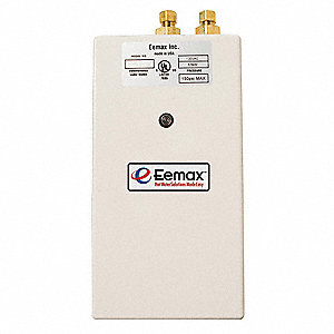 Electric Tankless Water Heater, Undersink, Point-of-Use, 9000 Watts, 33 Amps AC