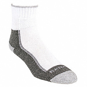 Quarter Sewn Cotton Outdoor Socks, Men's, White, 1 PR