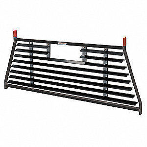 Louvered Cab Protector,Black,Steel,71 In