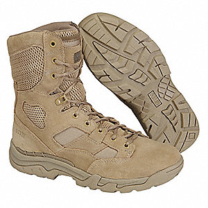 "8""H Men's TACLITE Boot, Plain Toe Type, Suede/1200 Denier Cordura Nylon Upper Material, Coyote, Size"