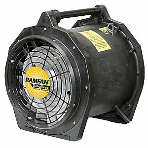 Axial Explosion Proof Confined Space Fan, 3/4 HP HP, 115V Voltage, 3450 rpm Blower/Fan Speed